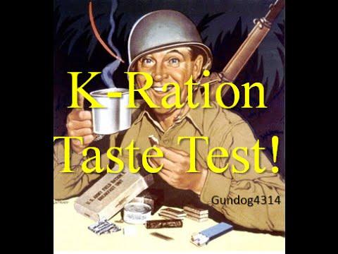 WW2 K-Ration Dinner Taste Test ~Reproduction~