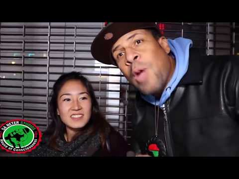 Acting dumb Japanese racist calling black people N word