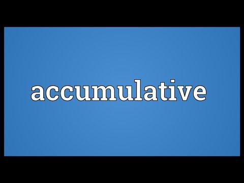 Header of accumulative