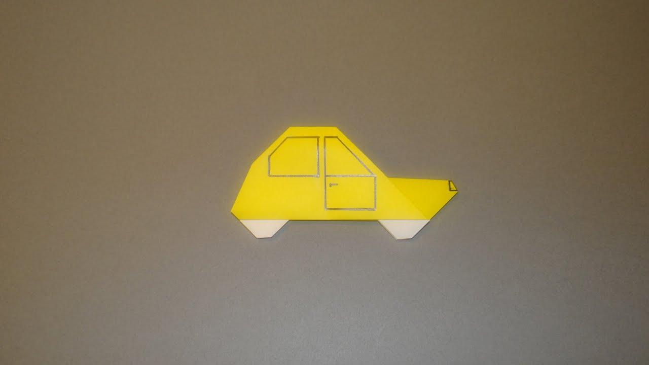 How to make an origami car 03 youtube jeuxipadfo Choice Image