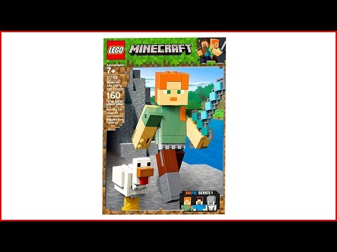 LEGO MINECRAFT 21149 Alex with Chicken Construction Toy - UNBOXING