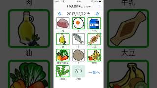 iPhoneのアプリ10食品群チェッカーの使い方です。 NHKためしてガッテ...