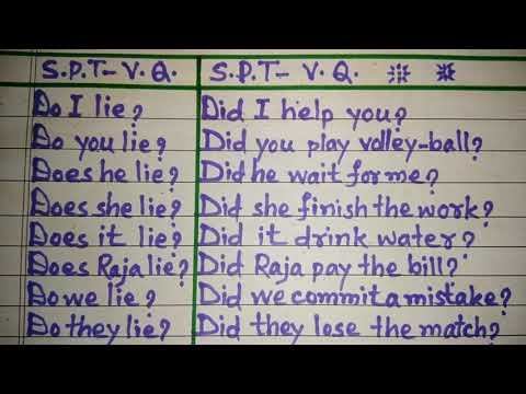 Simple Present and Past Tense - Verbal Questions
