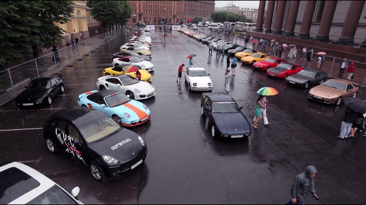 парад porsche в санкт-петербурге 7 июня 2014