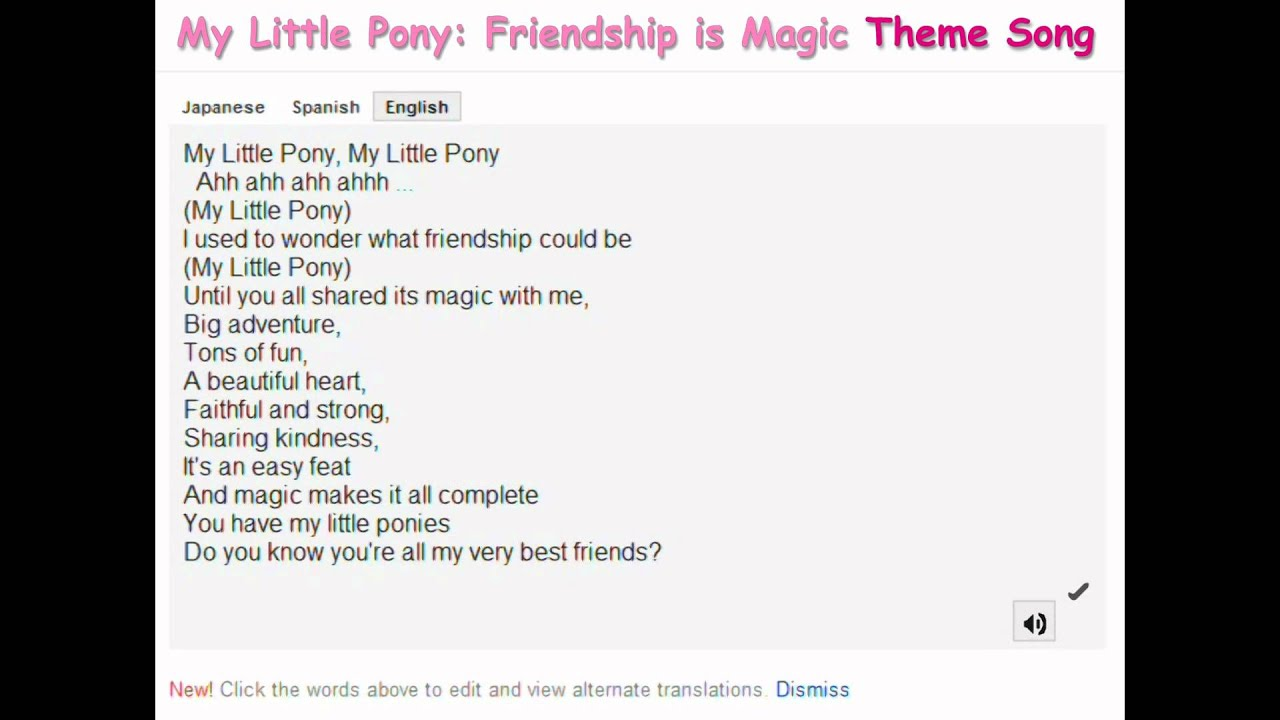 Google themes my little pony - Google Translate Sings The My Little Pony Friendship Is Magic Theme Song