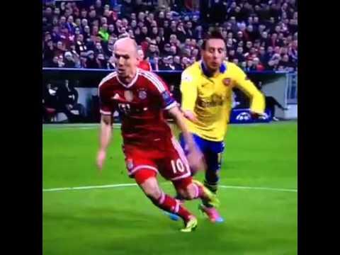 Arjen Robben dive Bayern Munich vs Arsenal 11-03-2014