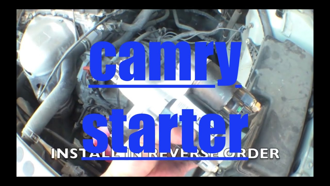 Easy Follow Starter Motor Replacement Toyota Camry Youtube 2006 Le Engine Diagram
