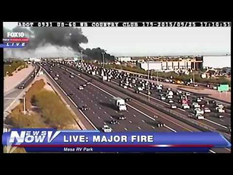 La Mesa Rv Albuquerque >> Fnn Fire At La Mesa Rv Center In Mesa Youtube
