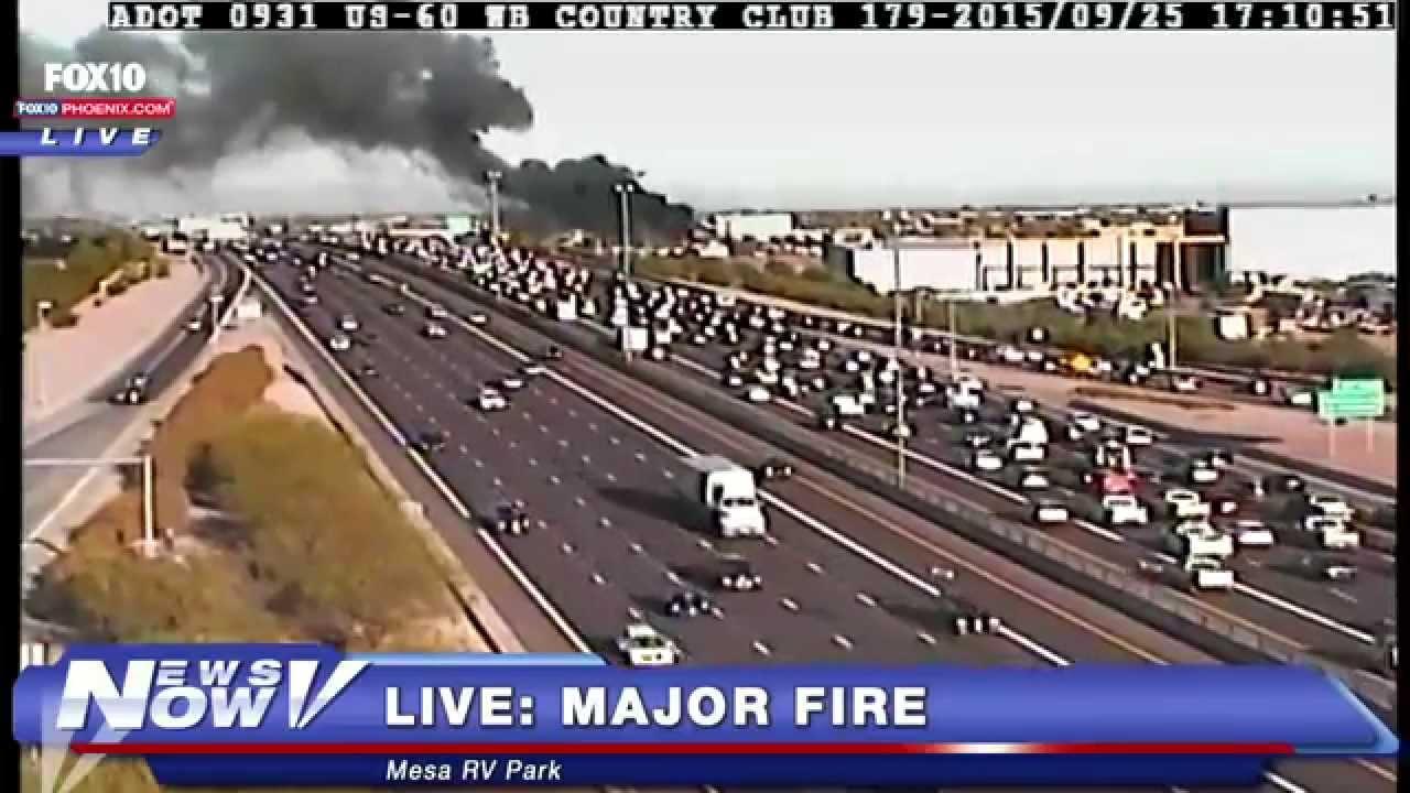 La Mesa Rv Albuquerque >> Fnn Fire At La Mesa Rv Center In Mesa