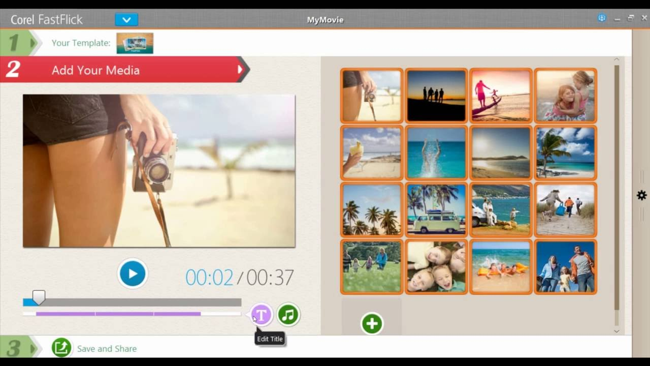 corel videostudio slideshow template free download