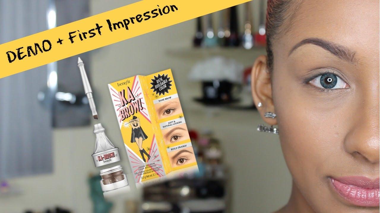 Benefit Ka Brow Demo First Impression Mo Makeup Mo Beauty Youtube