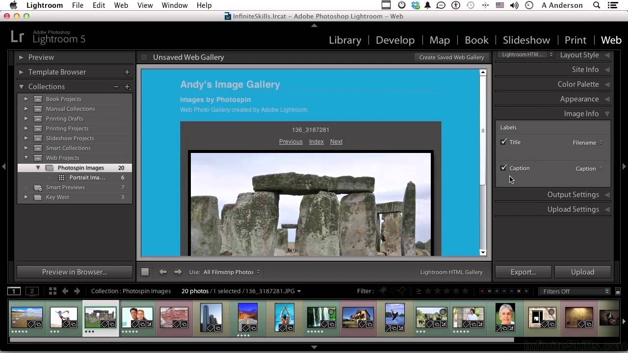 adobe lightroom 5 tutorial | generating a web gallery and saving a