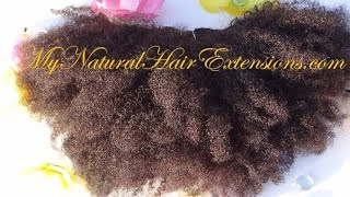 Afro Kinky Curly Weave | My Natural Hair Extensions