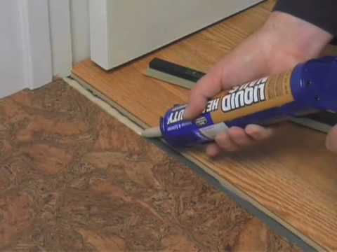 how to install a t molding glue down