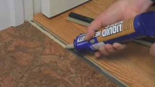 How to Install a T-molding - Glue Down