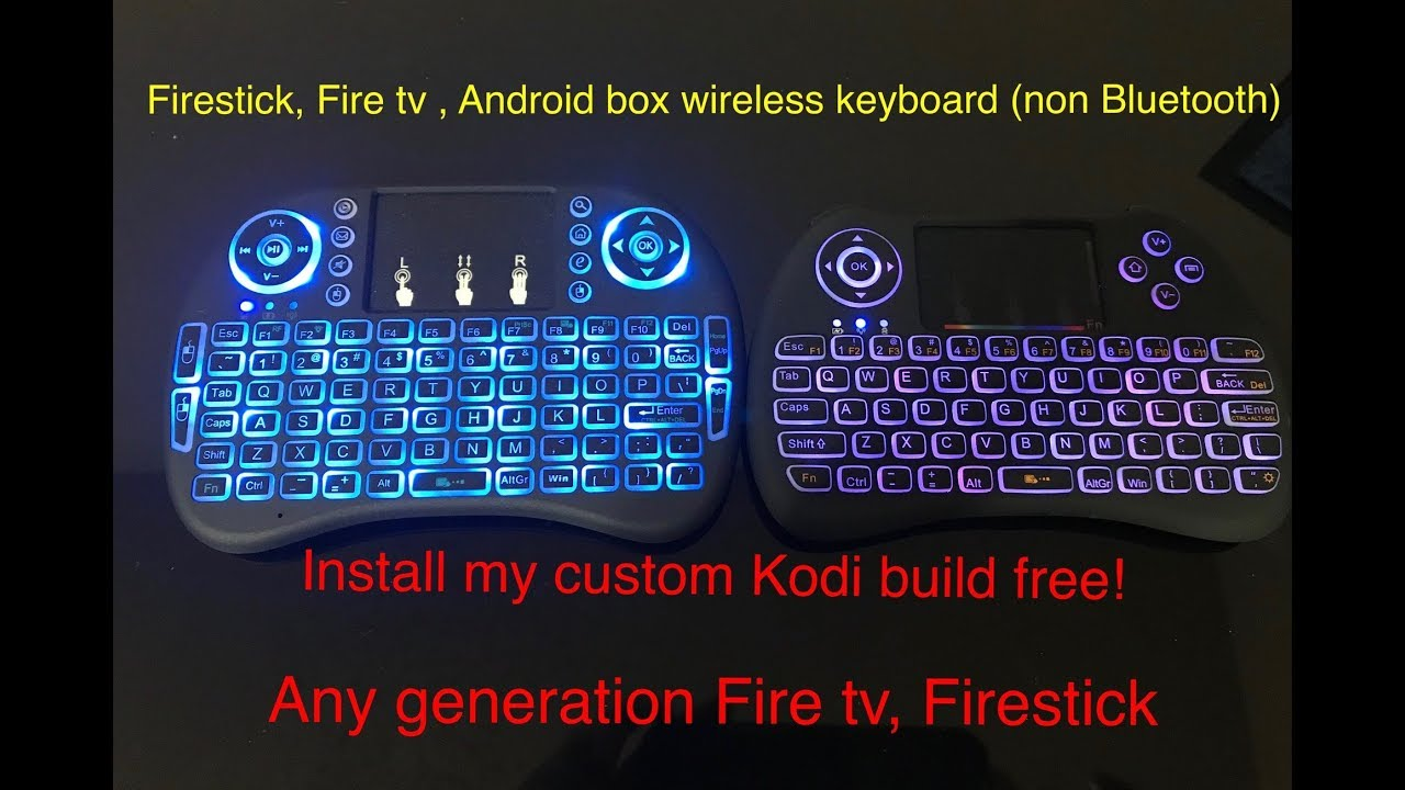 7c02728a96e4e5 2 Wireless keyboards (non bluetooth) for Amazon Firetv, Firestick & Android  boxes