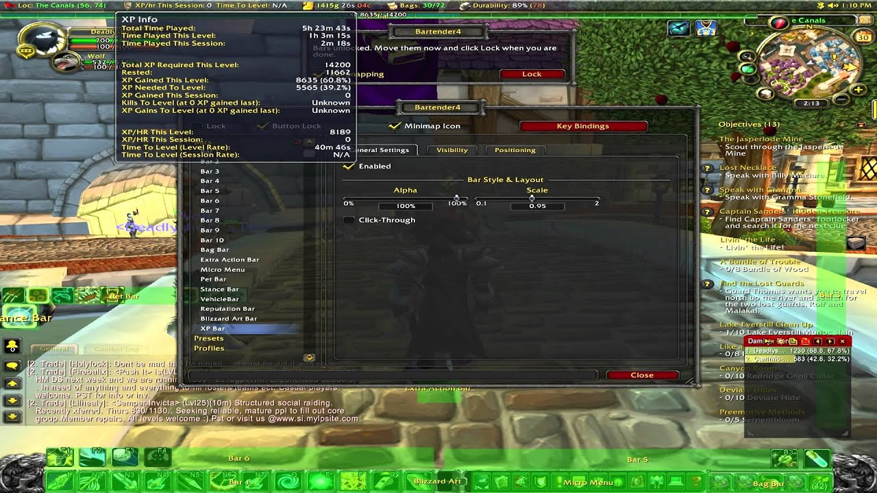 Wow Addons Bartender 4 Easy To Use Keybinding And Action