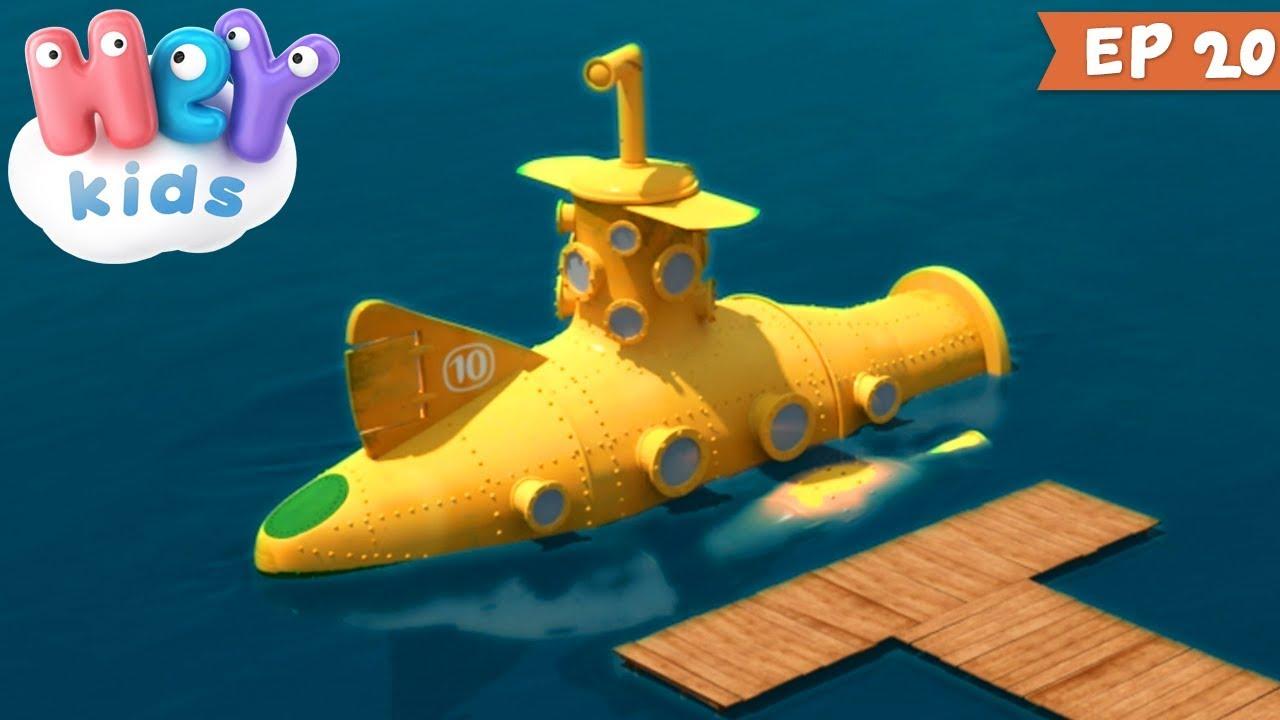 10 Prieteni ? Scufundări - Desene animate cu submarine | HeyKids