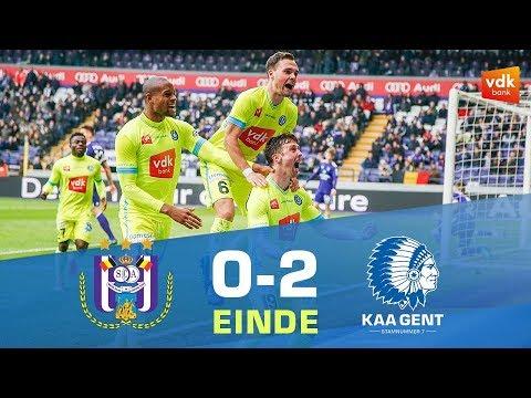 Anderlecht - KAA Gent (0-2) - YouTube