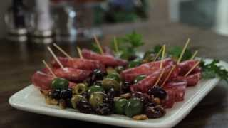 Appetizer Recipes - How To Make Salami, Cream Cheese, And Pepperoncini Roll Ups