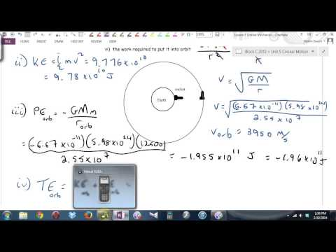 Physics 12 U5L7 Orbital Mechanics