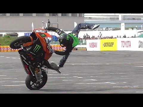 【MSJ2016】神業!KTM木下真輔 エクストリームバイクデモ モータースポーツジャパン2016