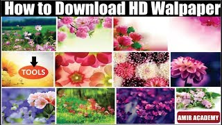 How To Download Full Hd Wallpaper On Pc || Download Hd 1080p Wallpapers || By Amir Academy