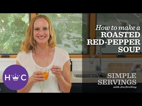 Roasted Red Pepper Soup | Simple Servings