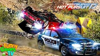 БЕШЕНЫЕ ГОНКИ видео про машинки тачки гонки полицейскую погоню Need for Speed Hot Pursuit
