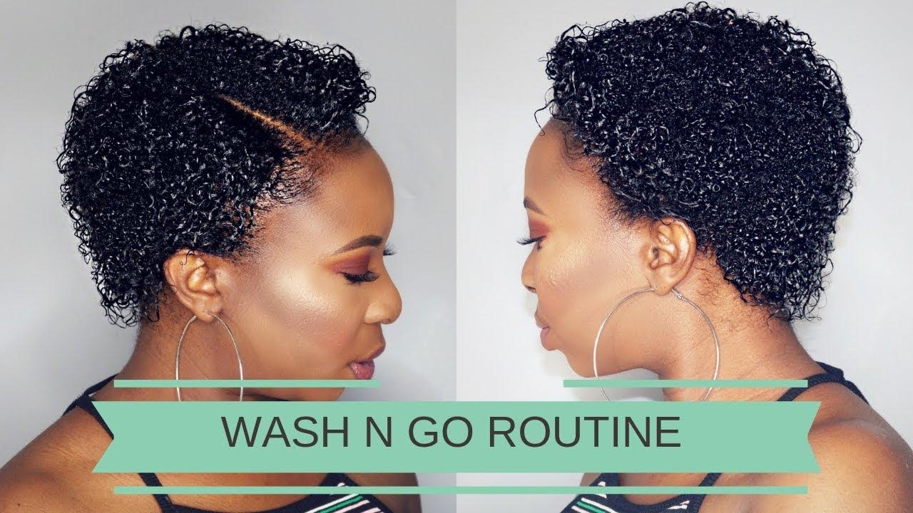 wash n go routine | relaxed short hair