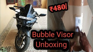 Pulsar RS 200.. windshield/bubble Visor.UnboXing.❤️❤️avlble in Flipkrt at vry Cheap rate ₹470 only.