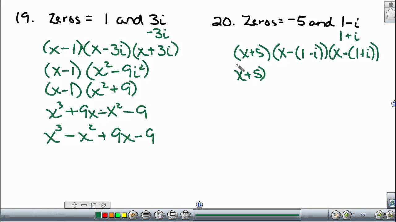 Writing polynomial equations given the roots youtube falaconquin