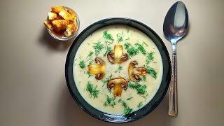 Готовить просто. Суп-пюре из шампиньонов.
