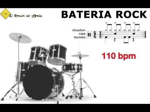Bateria rock 110 bpm
