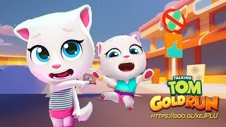 Enjoy This Video! Talking Tom Gold Run - 2x Fast Neon Angela vs Tal...
