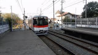 山陽電鉄本線 亀山駅下りホームから6000系普通が発車 上りホームを阪神9300系直通特急が通過