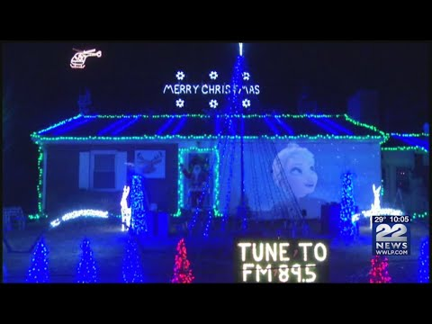 Christmas light spectacular at West Summit St. home in South Hadley