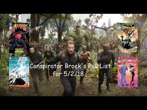 Conspirator Brock's Pull List for 5/2/2018