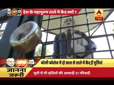 BR Ambedkar statue locked in cage in Bareilly college on his jayanti