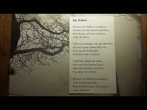 Hermann Hesse Gedicht Im Nebel