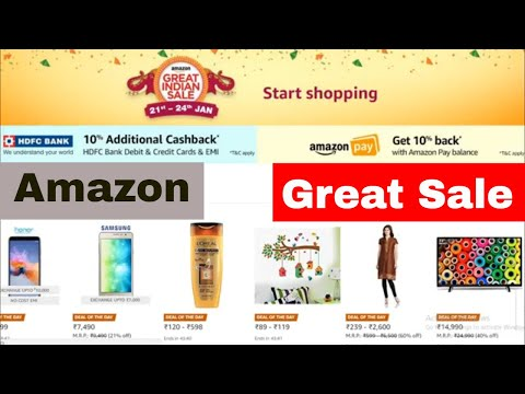 Amazon Indian Great sale  21st - 24th January//Technical NVN 99