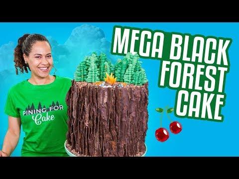 BLACK FOREST Mega Cake!!   How To Cake It