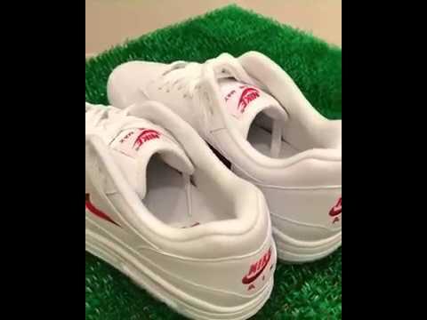 "Nike Air Max 1 Premium SC ""Jewel Swoosh"" (White / University Red) 918354-104"