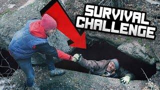 OVERNIGHT SURVIVAL CHALLENGE IN A CAVE! (24 Hours)