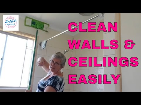 Cleaning Walls and Ceilings Using a Flat Mop - Quick & Easy