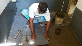 bathroom floor tiles installation  How To Install Tiles a Bathroom