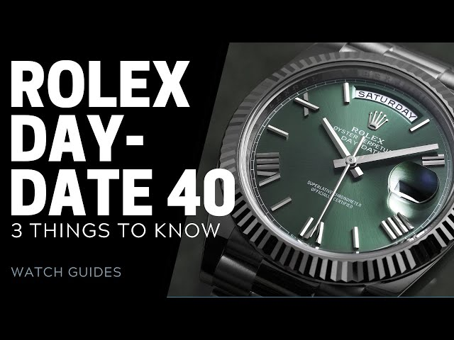Rolex Day Date 40 Review - 3 Things to Know   SwissWatchExpo