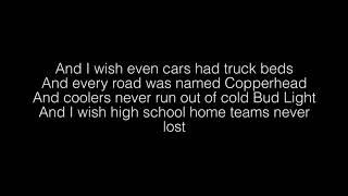 Riley Green- I Wish Grandpas Never Died Lyrics