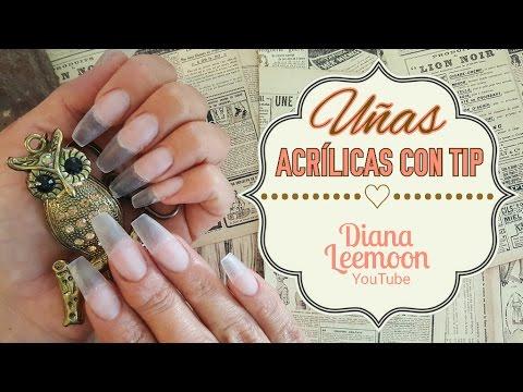 UÑAS ACRÍLICAS CON TIP • PARA PRINCIPIANTES • PASO A PASO • Diana Leemoon