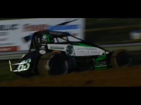 Bryan Clauson Wins Sprint Car Heat Race - Bloomington Speedway - June 3, 2016